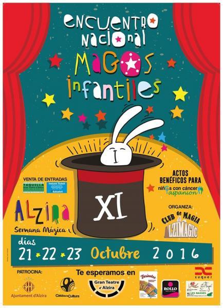 Cartel Magos Infantiles -11 - Alzira 2016