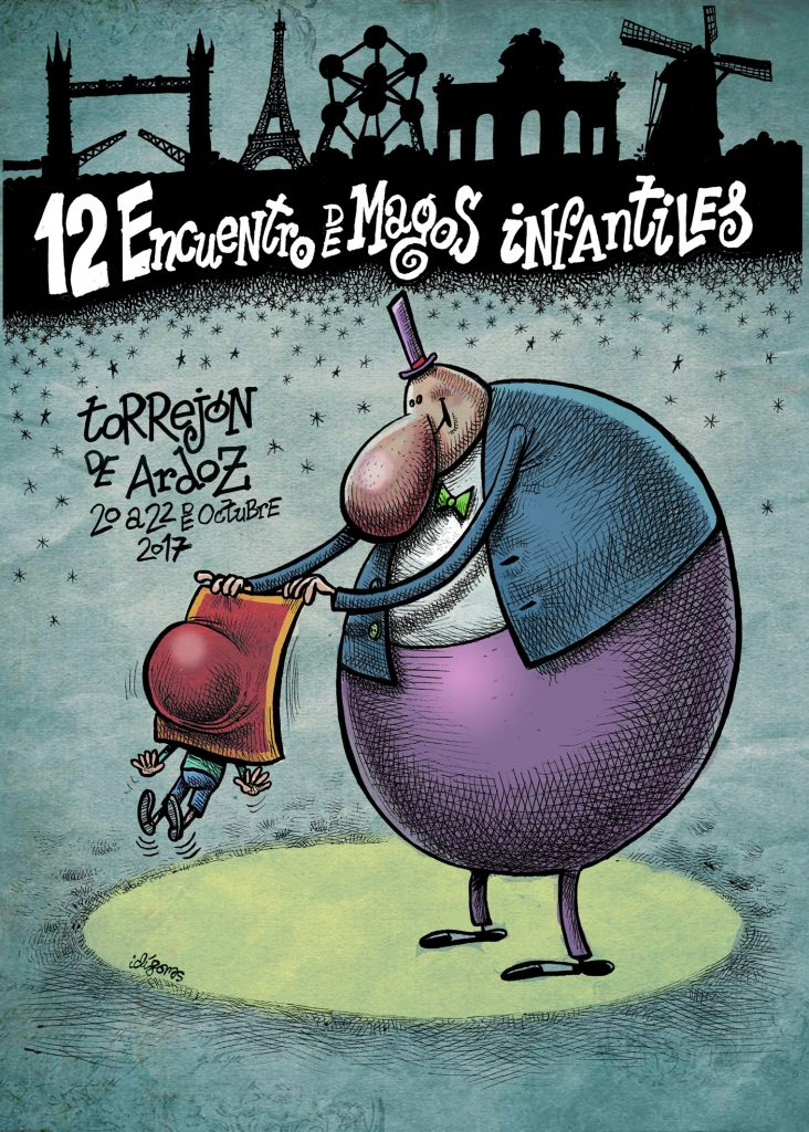Cartel Magos Infantiles -12 Baja Resol- Torrejón 2017